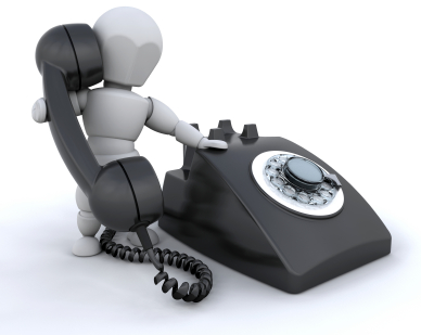 Someone talking on a retro styled telephone