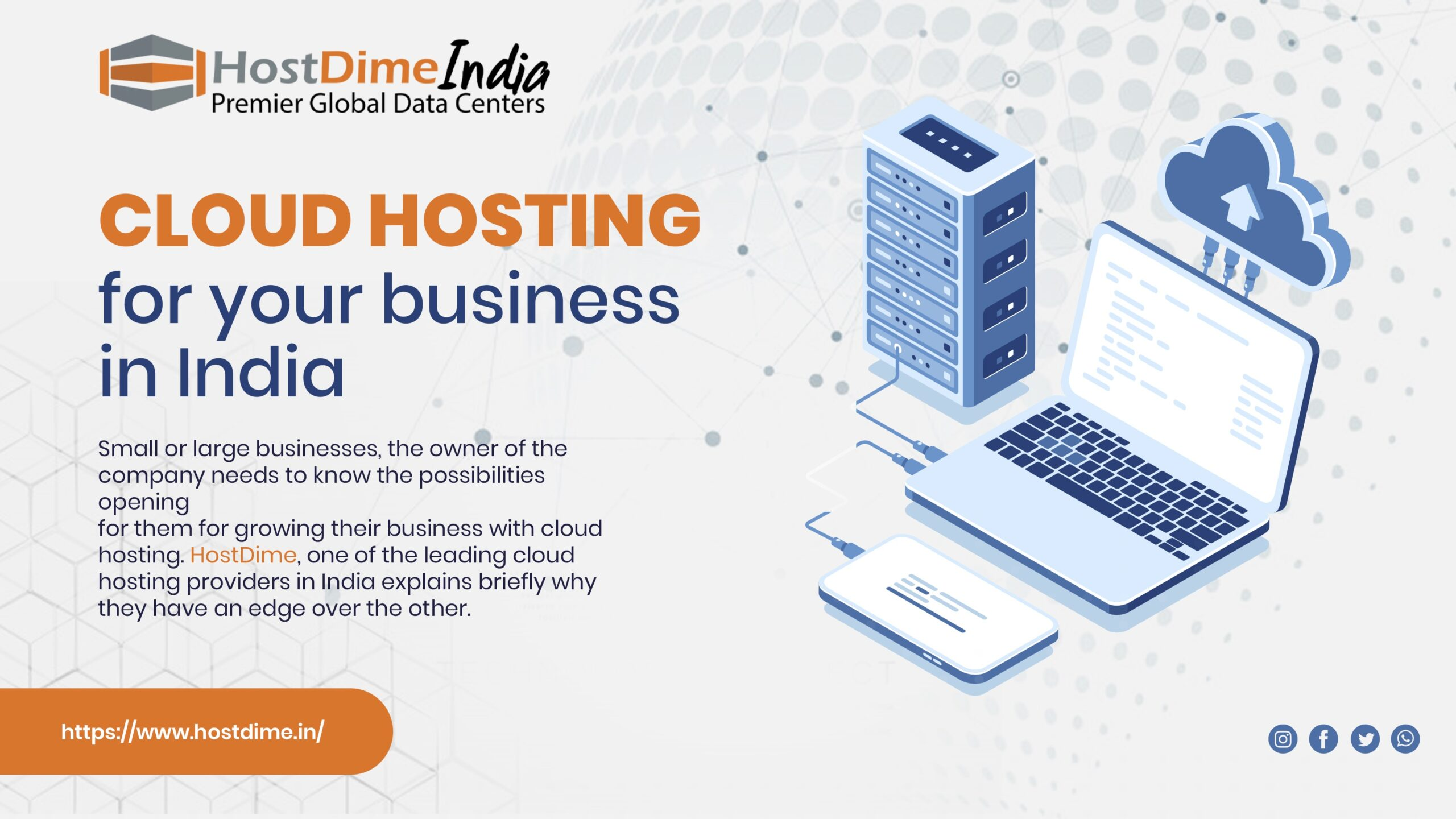 Cloud hosting for your business in India